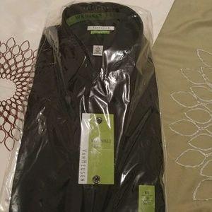 NWT Van Heusen men's black dress shirt